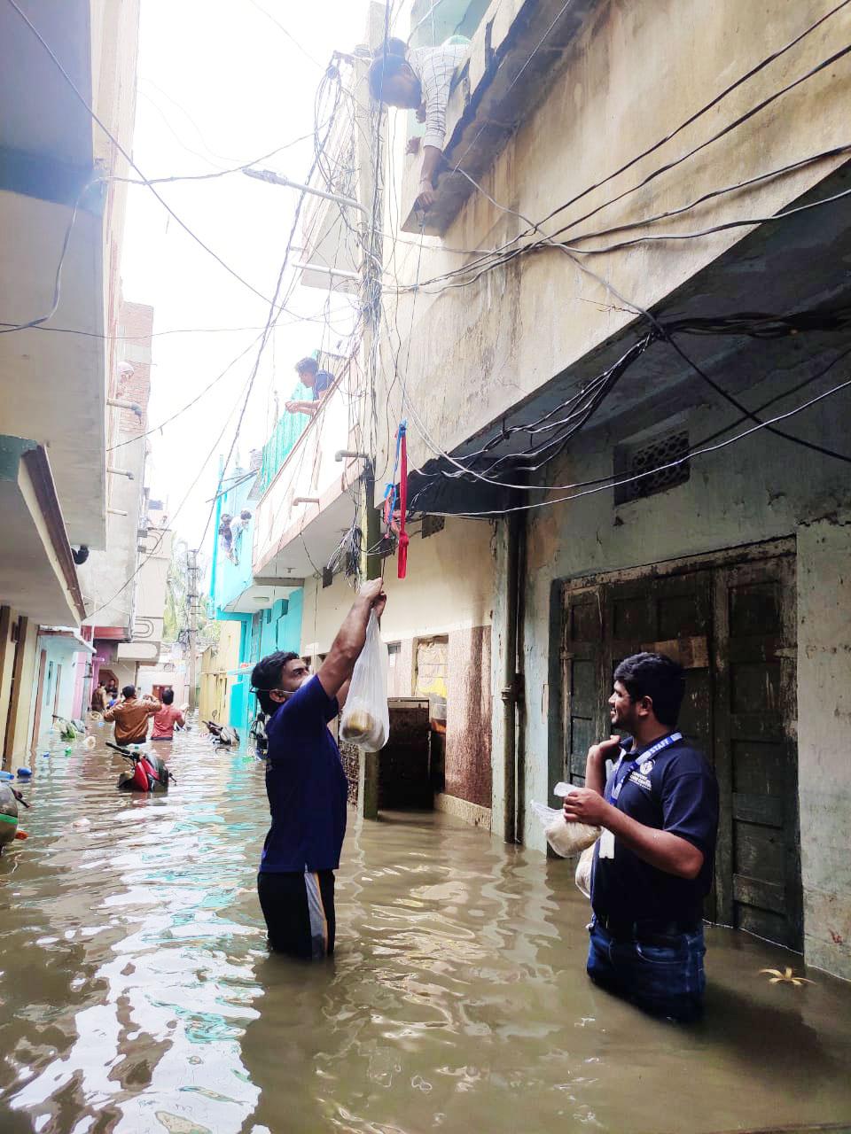 flood relief to 1st floor