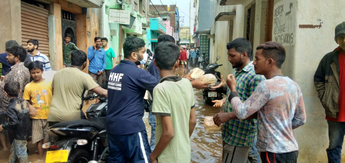 Food supply to flood relief areas
