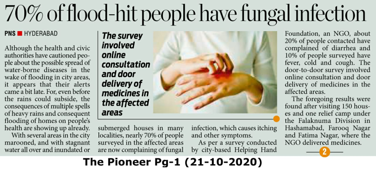 70% flood hit people have infections