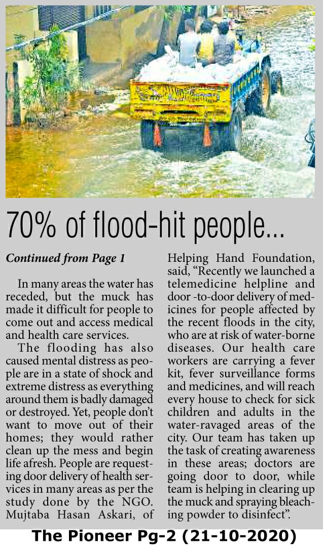 70% Flood hit have infections