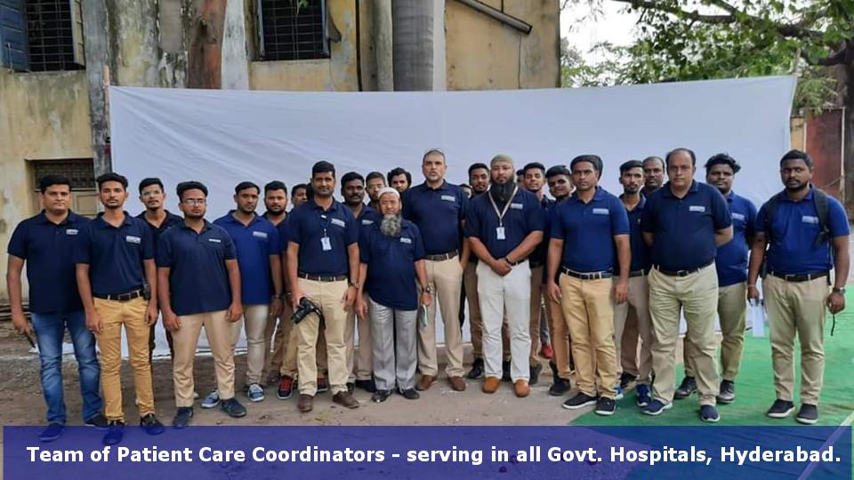 Team of Patient Care Coordinators - serving in all Govt. Hospitals, Hyderabad.